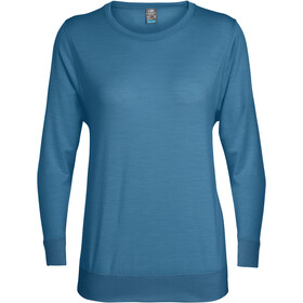 Icebreaker Mira T-shirt manches longues à col ras-du-cou Femme, thunder